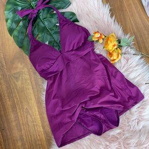 Talbots Slimming swimsuit w skirt